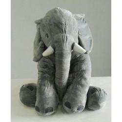 Stuffed Elephant Plush Toy - Grey