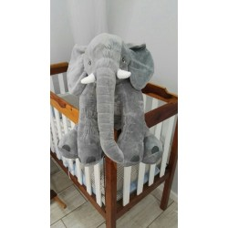 Stuffed Elephant Plush Toy - Grey