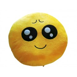 Emoji Plush Pillow - shy eyes