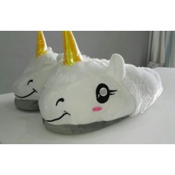 Unicorn Slippers - White