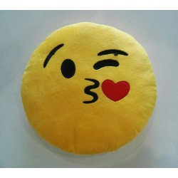 Emoji Plush Pillow - Blowing Kisses