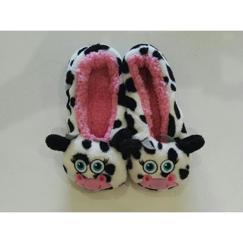 Cozy Animal Soft Slippers - Cow
