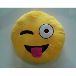 Emoji Plush Pillow - Crazy Face