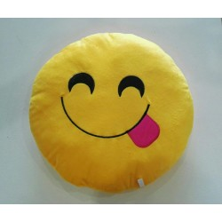 Emoji Plush Pillow - Yummy Face