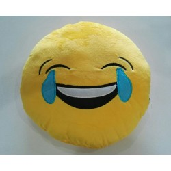 Emoji Plush Pillow - Laughing Face