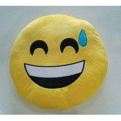Emoji Plush Pillow - Sweaty Face
