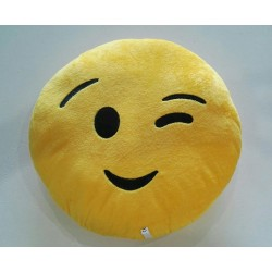 Emoji Plush Pillow - Winking Face