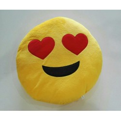 Emoji Plush Pillow - In Love