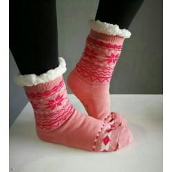 Fluffy Slipper Socks - Plain (Pink)