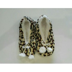 Cozy Soft Slipper - Leopard Print 1