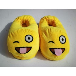 Emoji Slippers - Crazy Face
