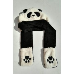 Animal hoodies - Black Panda