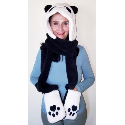 Animal hoodies - Black Panda